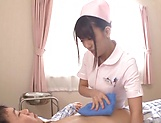 Naughty nurse sucking and fucking