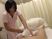 Gorgeous Japanese oral play with a hot nurse