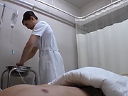 Japanese nurse blows cock till cumshot