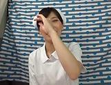 Gorgeous Asian nurse in kinky sexual fun indoors