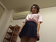 Satou Mayu is a very nice teen brunette