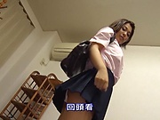 Satou Mayu is a very nice teen brunette