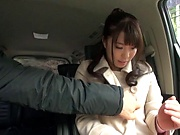 Road home ends with a great fuck for Matsushita Miori