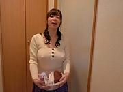 Classy Japanese milf Saitou Miyu fucked in the bathroom by a voyeur