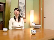 Classy Japanese milf Saitou Miyu fucked in the bathroom by a voyeur