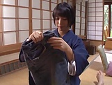 Sexy Japanese milf shows off fucking in hard scenes  picture 13