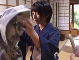 Sexy Japanese milf shows off fucking in hard scenes  picture 15