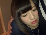 Kinky hottie Hazuki Moe in a wild hardcore pov fuck scene