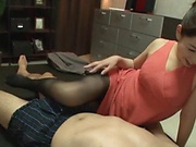 Curvy Asian babe with sexy stockings loves getting freaky
