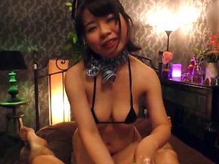Japanese brunette is being super naughty