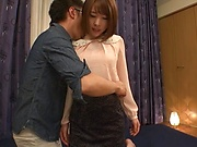 Super sexy Japanese milf Honda Misaki gets satisfied in a hardcore bang