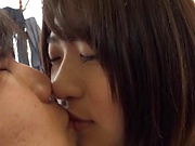 Maino Itsuki gets her juicy big melons teased