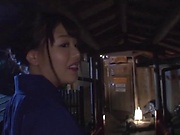 Tanned Japanese babes hard fucked in premium POV
