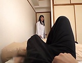 Japanese female doctor in black stockings rides a cock like a pro