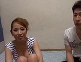 Beautiful Asian hottie gets her gaping cunt filled with cum