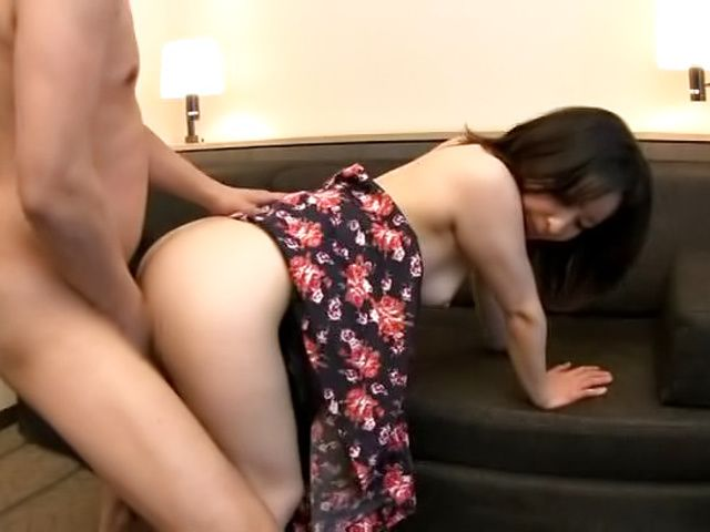 Alluring Asian hottie gets her muff filled with cum