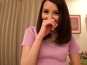 Japanese amateur wife looks sexy in a mini skirt