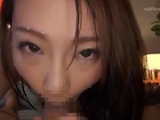 Asian AV model Konishi Yuu blows a big dick in a pov video