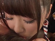 Gorgeous Japanese babe delights with cock in premium POV