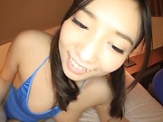 Teen love Sasakura An gets her gaping twat filled with cum