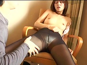 Temptress gets a messy creampie after a cute bonk