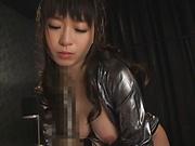 Hatzuki Nozomi and Aizawa Yurina hardcore pounding indoors