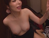 Sweet Japanese girl cock sharing oral XXX in POV picture 119