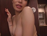 Sweet Japanese girl cock sharing oral XXX in POV picture 54