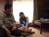 Teen Japanese schoolgirl in a swimsuit gets her pussy creamed picture 12