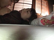 Harsh bedroom romance in POV with Matsushita Miori
