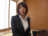 Raunchy titty fuck session involving sexy office lady picture 12