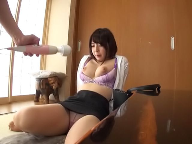 Raunchy titty fuck session involving sexy office lady