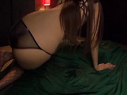 Alluring Asian babe in raunchy fisting session