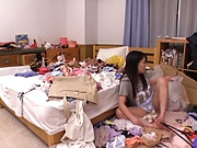 Busty Japanese teen gets this man to fuck her hard