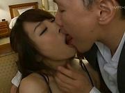 Amazing sweet milf Shirose Mio in lingerie enjoys a hot fuck