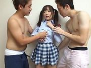 Sakura Miyuki featured in superb threesome fun