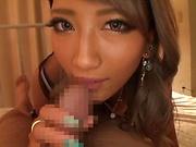 Sexy Asian babe Aika sucks a rides pretty well