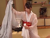 Hot Japanese lady Saki Hatsumi gives sensational handjob picture 12