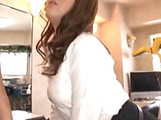 Very busty Asian milf screwed and creamed on