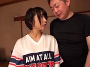 Japanese schoolgirl gets pusys toyed and mouth fucked rough