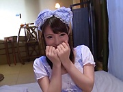 Hakii Haruka has her wet cunt stretched