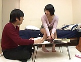 Nice sleazy babe Miku Abeno satisfies her insatiable pussy