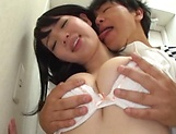 Saitou Miyo gets her tight wet muff filled by a hard pole picture 15