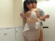 Hot milf Saitou Miyo in kinky fisting sexual fun indoors