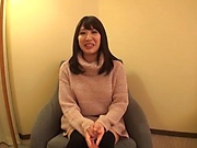 Hot Japanese milf with big tits sucks and rides a pecker for a pov video
