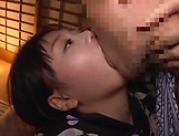 Horny Asian milf loves getting her large tits pleasured