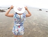 Sonoda Mion ,gets naughty in the beach picture 12