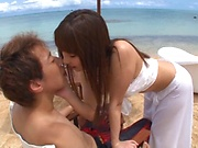 Ayami Shunka ,gets naughy in an outdoor event