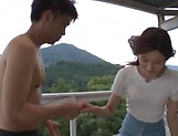 Tiny tits lady Uehara Mizuho loves giving a steamy head picture 2