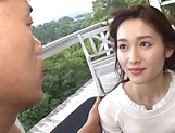 Tiny tits lady Uehara Mizuho loves giving a steamy head picture 3